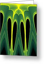 Abstract Of Balanced Green Greeting Card by Linda Phelps