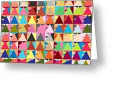 Abstract Of Colors  Greeting Card by Mark Ashkenazi