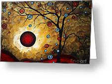 Abstract Original Gold Textured Painting Frosted Gold By Madart Greeting Card by Megan Duncanson