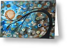 Abstract Original Landscape Art In A Trance Art By Madart Greeting Card by Megan Duncanson