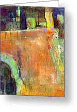Abstract Painting Simple Pleasure Greeting Card by Blenda Studio