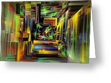 Abstract Perspective E3 Greeting Card by Greg Moores
