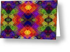 Abstract - Rainbow Connection - Panel - Panorama - Vertical Greeting Card by Andee Design