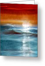 Abstract Seascape Greeting Card by Natalie Kinnear