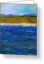 Abstract Shoreline Greeting Card by Michelle Calkins