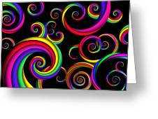 Abstract - Spirals - Inside A Clown Greeting Card by Mike Savad