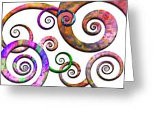 Abstract - Spirals - Planet X Greeting Card by Mike Savad