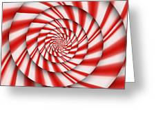 Abstract - Spirals - The power of mint Greeting Card by Mike Savad