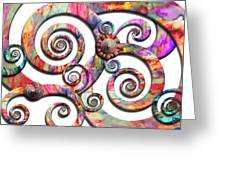 Abstract - Spirals - Wonderland Greeting Card by Mike Savad
