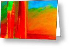 Abstract Splendor II Greeting Card by Glenna McRae