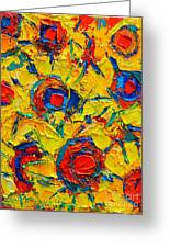 Abstract Sunflowers Greeting Card by Ana Maria Edulescu