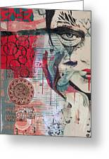 Abstract Tarot Card 008 Greeting Card by Corporate Art Task Force