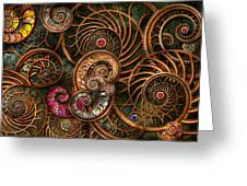 Abstract - The Wonders Of Sea Greeting Card by Mike Savad
