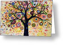 Abstract Tree Painting ... Life Giver Greeting Card by Amy Giacomelli