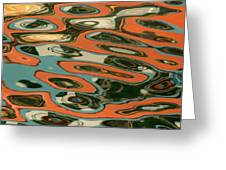 Abstract Water Reflection 5 Greeting Card by Andrew  Hewett