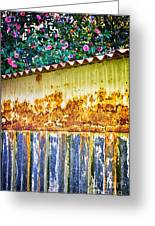 Abstract Weathered Metal Cabin Detail Greeting Card by Silvia Ganora