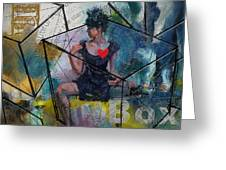Abstract Woman 002 Greeting Card by Corporate Art Task Force