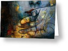 Abstract Woman 011 Greeting Card by Corporate Art Task Force