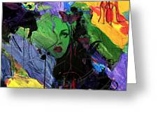 Abstract Women 014 Greeting Card by Corporate Art Task Force