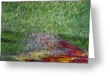 Abstraction Of Life Greeting Card by Deborah Benoit