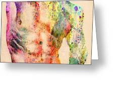 abstractiv body  Greeting Card by Mark Ashkenazi