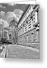 Academy Of Arts Dresden Greeting Card by Christine Till