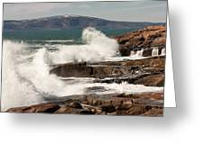 Acadia Waves 4198 Greeting Card by Brent L Ander