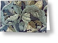 Acanthus Leaf Design Greeting Card by William Morris