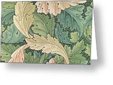 Acanthus wallpaper design Greeting Card by William Morris