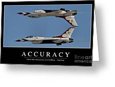 Accuracy Inspirational Quote Greeting Card by Stocktrek Images