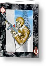 Ace Of Spades Greeting Card by John Kuhenbeaker
