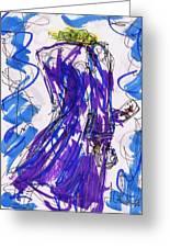 Aceo Joker V Greeting Card by Rachel Scott
