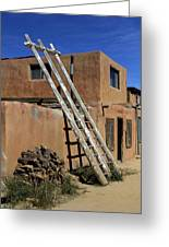 Acoma Pueblo Adobe Homes 3 Greeting Card by Mike McGlothlen