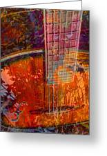 Acoustic Dreams Digital Guitar Art By Steven Langston Greeting Card by Steven Lebron Langston