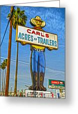 Acres Of Trailers 2 Greeting Card by Gregory Dyer
