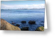 Across The Bay Greeting Card by JC Findley