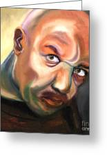 Actor Delroy Lindo Greeting Card by Susan A Becker