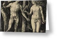 ADAM and EVE in the GARDEN of EDEN - ALBRECHT DURER 1504 Greeting Card by Daniel Hagerman