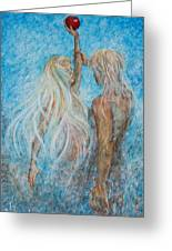 Adam And Eve Greeting Card by Nik Helbig