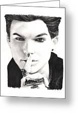 Adam Lambert Greeting Card by Rosalinda Markle