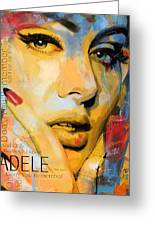 Adele Greeting Card by Corporate Art Task Force