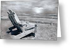 Adirondack Sunrise Topsail Island Greeting Card by Betsy Knapp