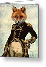 Admiral Fox Full Greeting Card by Kelly McLaughlan