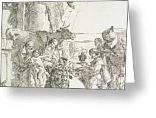 Adoration of the Magi Greeting Card by Giovanni Battista Tiepolo