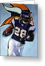 Adrian Peterson 24x36 Greeting Card by Absolon Moreau