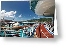 Adventure Of The Seas Jogging Track Greeting Card by Amy Cicconi