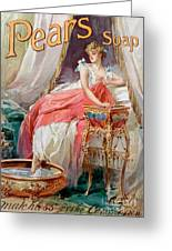 Advertisement For Pears Soap Greeting Card by English School