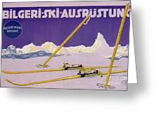 Advertisement For Skiing In Austria Greeting Card by Carl Kunst
