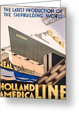 Advertisement For The Holland America Line Greeting Card by Hoff