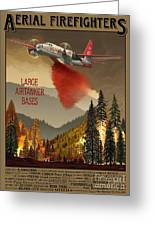 Aerial Firefighters Large Airtanker Bases Greeting Card by Airtanker Art